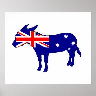 Australische Vlag - Ezel Poster
