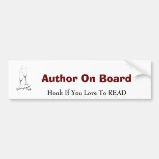 Auteur aan boord van de Sticker van de Bumper