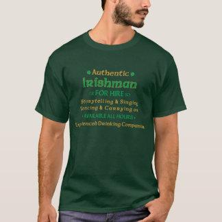 Authentieke Ier voor Grappige Huur T Shirt