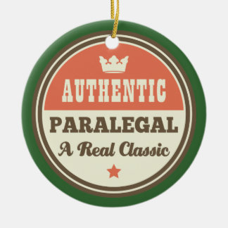 Authentieke Paralegal een Echte Schrijver uit de Rond Keramisch Ornament