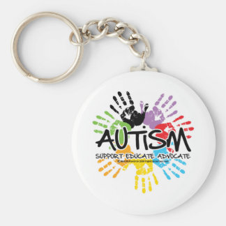 Autisme Handprint Basic Ronde Button Sleutelhanger