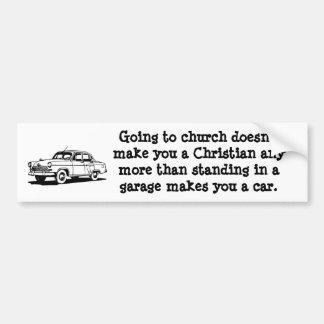 Auto, de Sticker van de Bumper van de Kerk