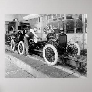 Auto Lopende band, jaren '20 Poster