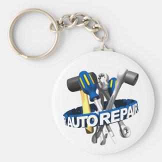 Auto mechanische Keychain Basic Ronde Button Sleutelhanger