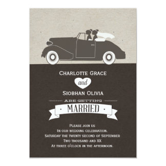 Auto Twee van het huwelijk het Lesbische Huwelijk Kaart