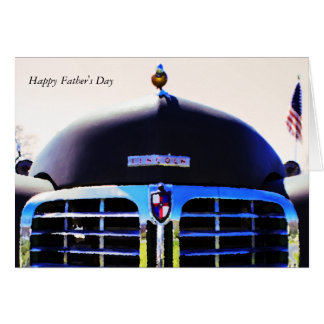 Auto van Lincoln van de Kaart van het vaderdag de