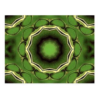 Avacado groen met zwarte lijnen briefkaart