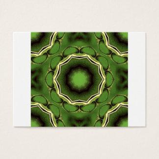 Avacado groen met zwarte lijnen visitekaartjes
