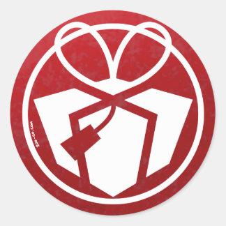Avatar van de Gift van Kerstmis Ronde Sticker