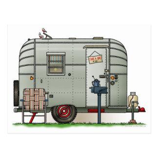 Avion de Aanhangwagen van de Kampeerauto Briefkaart