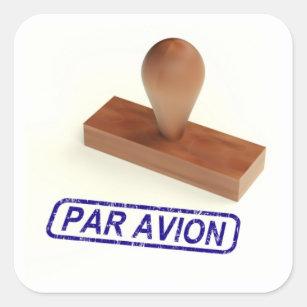 Avion van het pari de Post van de Lucht Vierkante Sticker