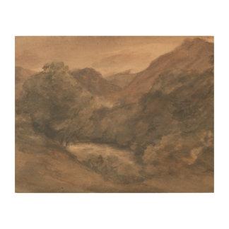 Avond John Constable - Borrowdale- na een Boete Houten Canvas
