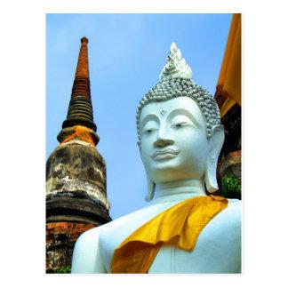 Ayutthaya. Wat Yai Chai Mongkol. Briefkaart