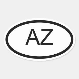 AZ Arizona de Euro Ovale Sticker van de Stijl
