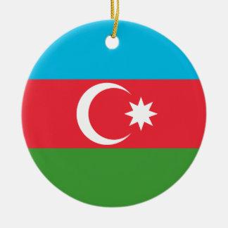 Azerbaijan de Nationale Vlag van de Wereld Rond Keramisch Ornament