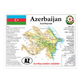 Azerbaijan het Briefkaart van de Kaart