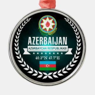Azerbaijan Zilverkleurig Rond Ornament