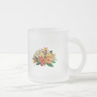 Aziatische Lelies en Stephanotis Matglas Koffiemok