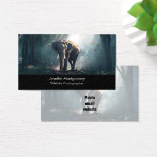Aziatische Olifant in een Zonovergoten Visitekaartjes