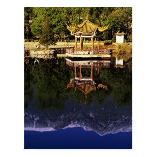 Azië, China, Yunnan, Dali. De Bergen van Cangshan Briefkaart