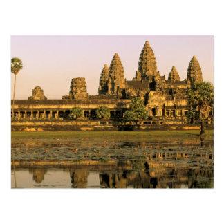 Azië, Kambodja, Siem oogst. Angkor Wat. Briefkaart