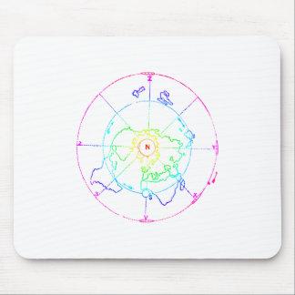 Azimutale Equidistante Onderzoekende Kaart Muismat