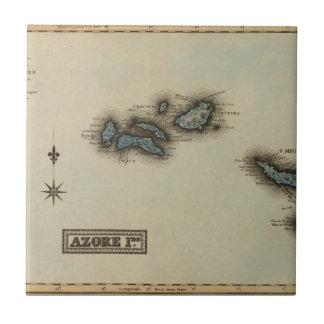Azore de Kaart van de Atlas van Eilanden Keramisch Tegeltje