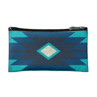 Azteeks koel geometrisch ontwerp make-up bag