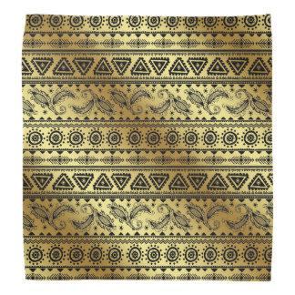 Azteekse Stammen Neutrale Zwarte & Gouden bandana