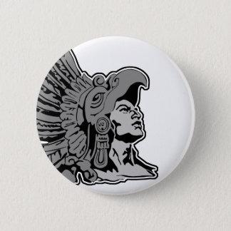 Azteekse strijder ronde button 5,7 cm