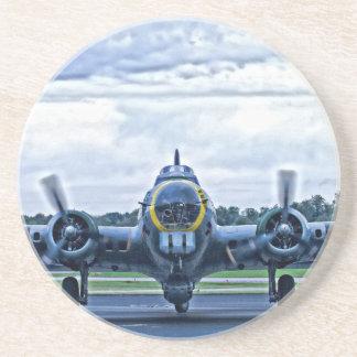 B17 het Vintage Vliegen van het Vliegtuig van het Zandsteen Onderzetter