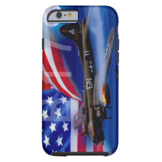 B17 met Amerikaanse Vlag Tough iPhone 6 Hoesje