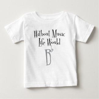 B de Vlakke T-shirt van Jersey van het Baby