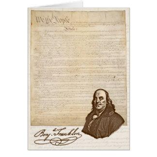 B. Franklin: Vrijheid & Land - Wenskaart