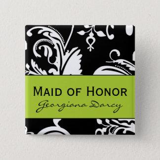 B&G de vierkante Knoop van het Eerste bruidsmeisje Vierkante Button 5,1 Cm