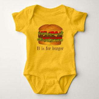 B is voor de Cheeseburger van de Hamburger van de Romper