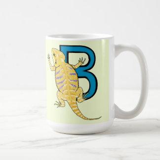 B is voor Gebaarde Draak Koffiemok