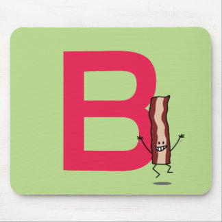 B is voor het springen van het Bacon gelukkige Muismat