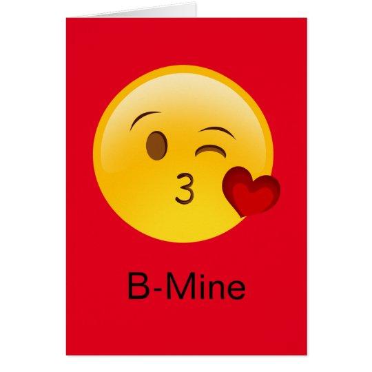 B-Mine Emoji Valentijnskaart Kaart