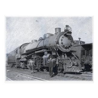 B & van O Locomotief 4013 van de Stoom Briefkaart