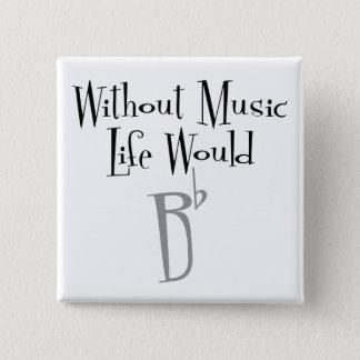 B Vlakke Vierkante Knoop Vierkante Button 5,1 Cm
