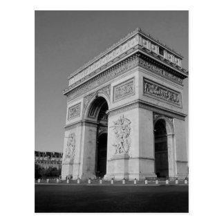 B&W Arc DE Triomphe 3 Briefkaart