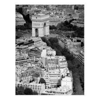 B&W Arc DE Triomphe Briefkaart
