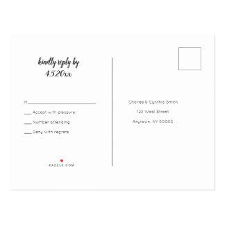 B&W de briefkaarten van het harthuwelijk rsvp