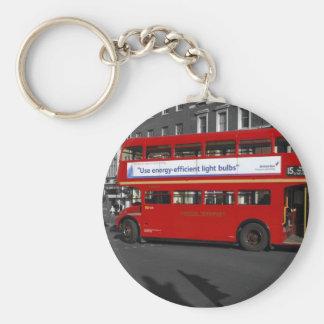 B/W de rode Gekleurde Rode Bus Keychain van Londen Sleutelhanger