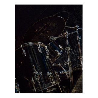 B/W Drumset 5 Briefkaart