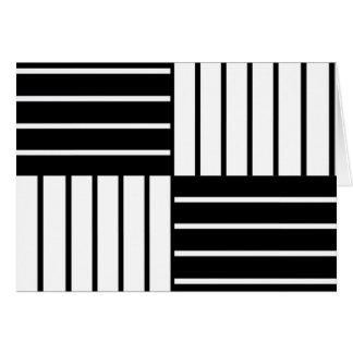 B&W gestreepte Vierkanten Briefkaarten 0