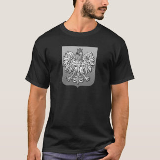 B/W het Poolse Schild van Eagle T Shirt