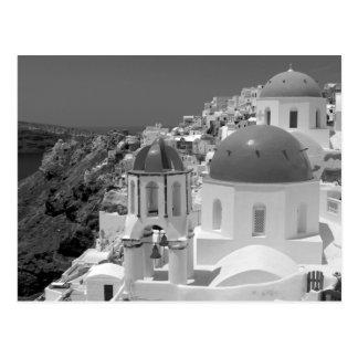 B&W Santorini 2 Briefkaart