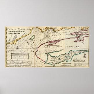 Baai van Fundy en Koninklijke haven van Annapolis Poster